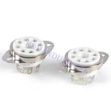 2pcs Ceramic Octal Vacuum Chassis Mount Tube Socket 8Pin KT88 KT66 6CA7 CV3889 Valve Base Guitar Amp цена и фото