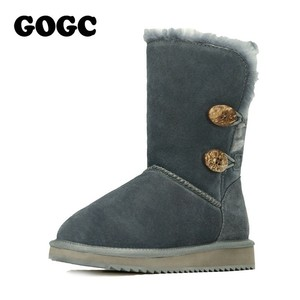 Image 5 - GOGC Womens Winter Shoes Snow Boots Womens Winter Boots with Wool Fur Comfortable Genuine Leather Womens Winter Boots 9720