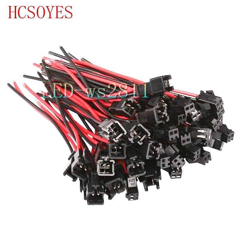 10 para 2 pin JST Led anschluss kabel Terminals rot schwarz draht ...