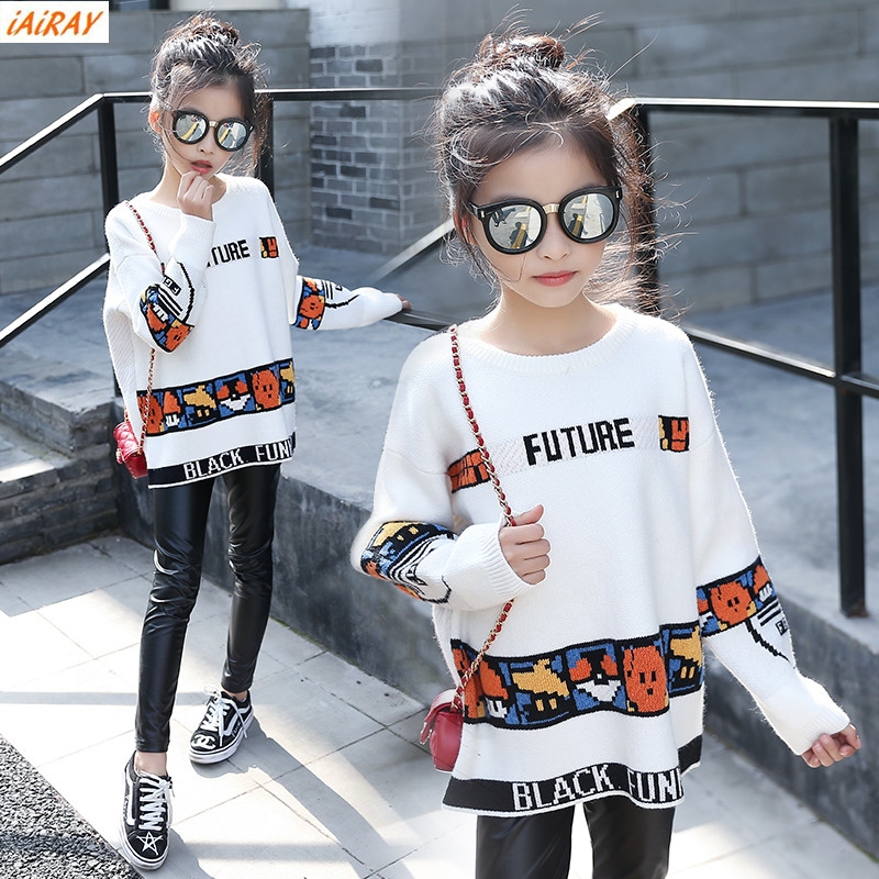 be10592c9 iAiRAY brand new 2017 spring autumn korean style big girls sweater ...
