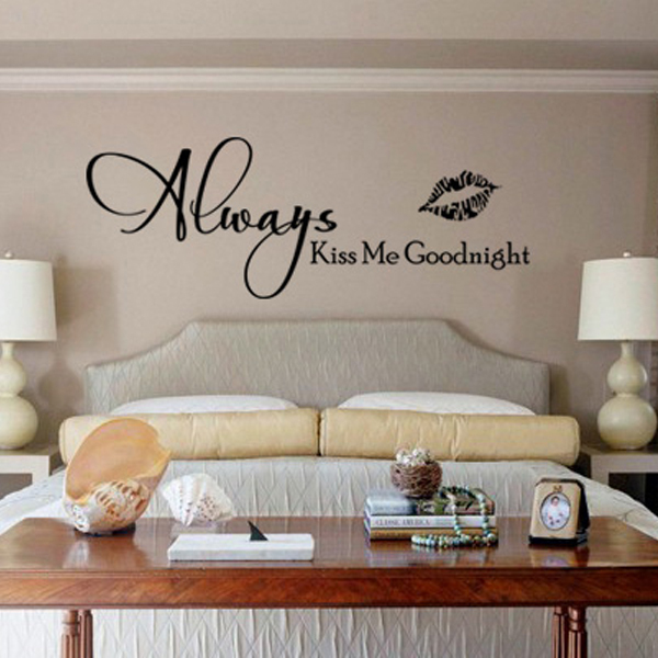 Always Kiss me Goodnight wall art vinyl decal