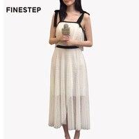 Дизайнерский бренд белый платье комбинация Лето Известный Бренд женское платье высокое качество роскошные Сетчатое платье