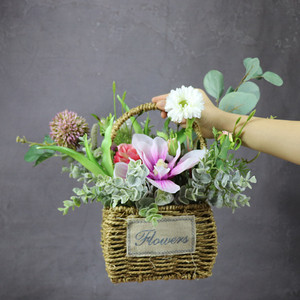 INDIGO Exclusive Sales Flower Basket Set Flower Arrangement Gift Bouquet Artificial Flower Party Event Free Shipping