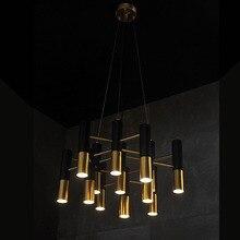 Nuevo metal de aluminio tubo de lámpara colgante lámpara moderna casa de diseño de moda de Comedor dormitorio salón clubes cafeterías chandelier + EMS
