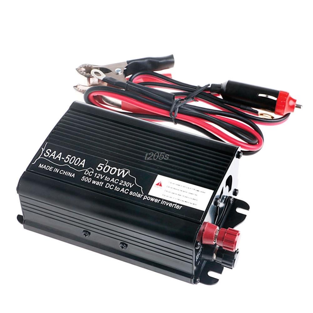 все цены на Solar Power Inverter 1000W 12V To 230V Modified Sine Wave Converter T25 Drop ship онлайн