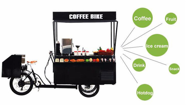 Mobile Chinese Coffee Bike Food Bike Cart Beer Bike For