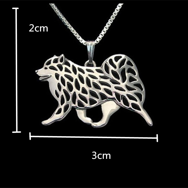 Samoyed Dog necklaces & pendants for women men girls silver/gold - Fashion Jewelry - Photo 2
