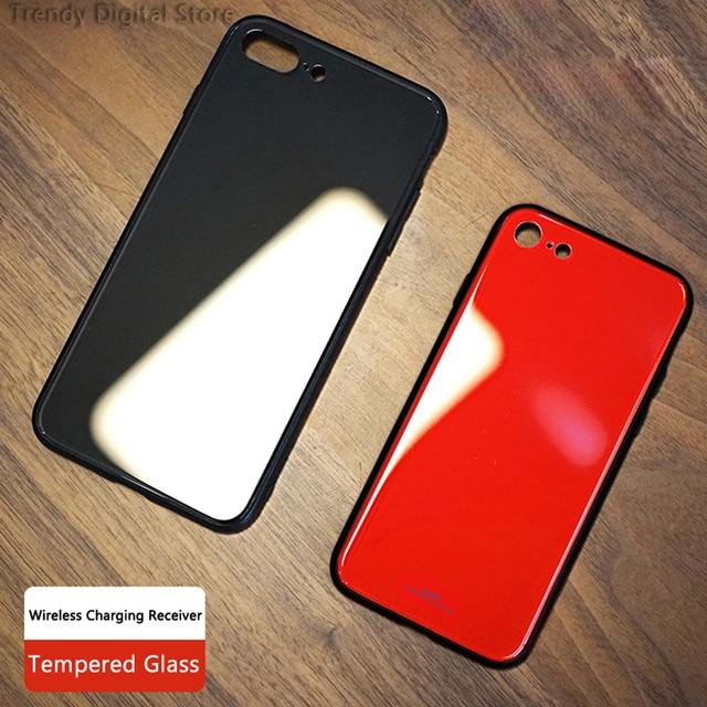 QI boîtier récepteur de charge sans fil pour IPhone 6 6plus 6S 6splus 7 7plus IPhone récepteur sans fil refit QI chargeur récepteur couvercle