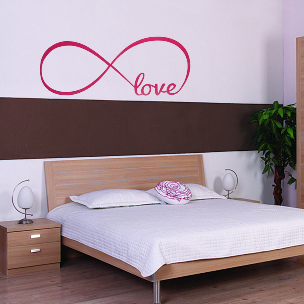 Aliexpress.com : Buy Personalized Bedroom Wall Decals Wall Stickers Bedroom  Decor Infinity Symbol Word Love Bedroom Vinyl Wall Art New Arrival From  Reliable ...