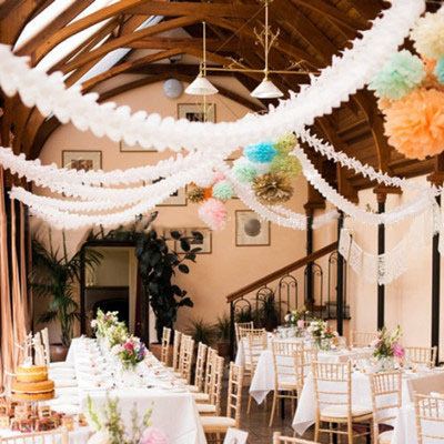 Clovers paper garland wedding marriage room decorate birthday party clovers paper garland wedding marriage room decorate birthday party the venue decoration shop wedding products3 each pack in banners streamers confetti junglespirit Images