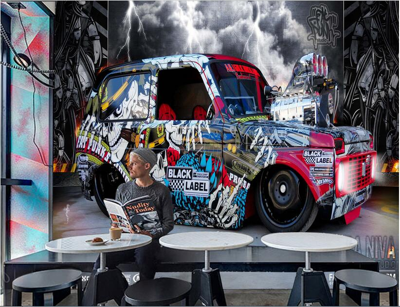 3d room wallpaper High-end custom mural non-woven wall sticker 3 d Graffiti car setting wall paingting 3d wall murals wallpaper 3d wallpaper custom mural non woven cartoon animals at 3 d mural children room wall stickers photo 3d wall mural wall paper
