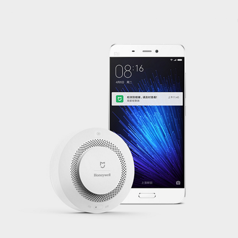Image 4 - Original Xiaomi mi jia Honeywell Detector de alarma de incendios Control remoto Audible Visual Alarma de aviso trabajo con la aplicación mi Home-in Detector de humo from Seguridad y protección on AliExpress