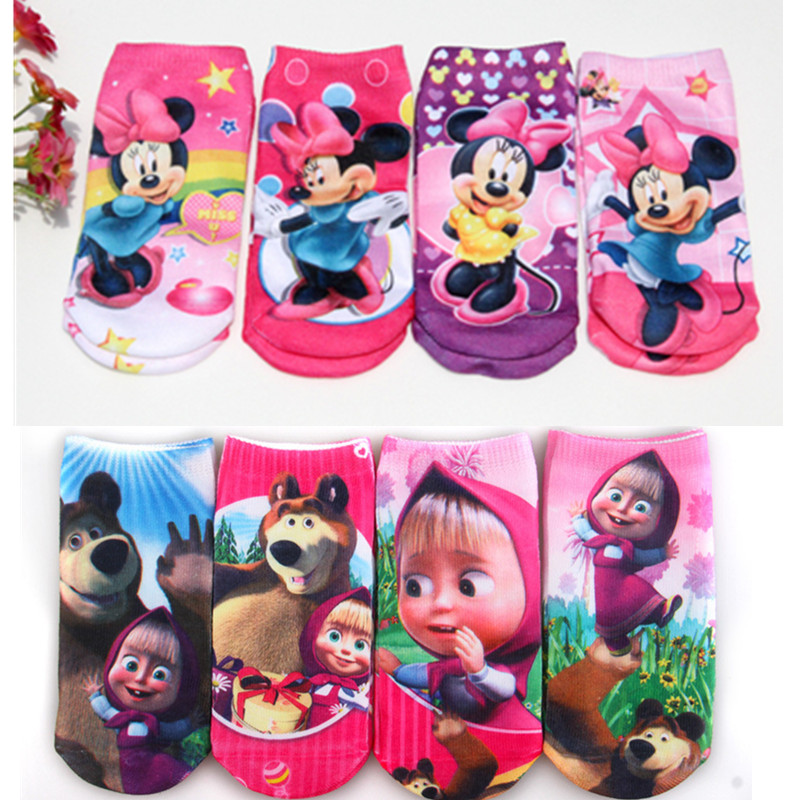 12pairs Children Girls Sock Cotton Children Socks Girl Cartoon Beautiful Clastic  Princess Socks 1-8T TP01