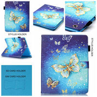 Fashion High Quality Cartoon Owl Butterfly Painted Flip PU Leather For IPad 8 Case For Apple