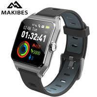 RU/ES in stock! Strava Makibes BR3 Men GPS Smart watches SmartBand IP68 Waterproof Fitness tracker for Xiaomi Phone MI8 IOS