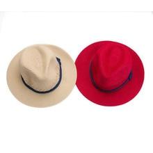 2015 Fashion Women Wide Large Brim Floppy Summer Beach a Sun hat Straw Hat button Cap summer Rope hats for women Free Shipping
