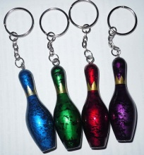 hot sale fashional colorful tenpin bowling pin keychain(China)