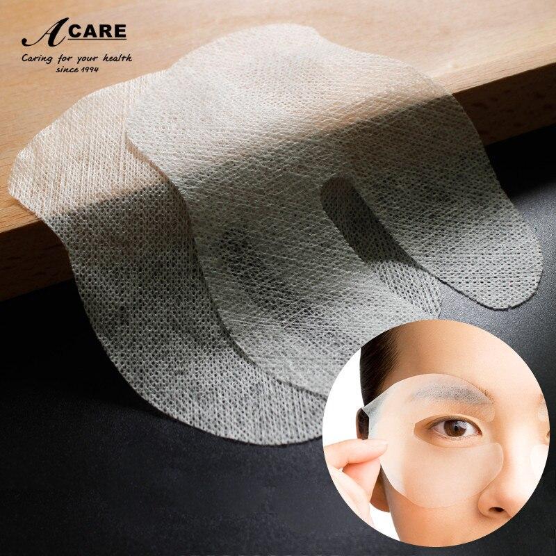 עין מסכת נייר 50 יחידות חד פעמי באיכות גבוהה טבעי משי חד פעמי DIY עין מסכת Ultrathin משי פנים טיפוח עור כלים חדש לגמרי