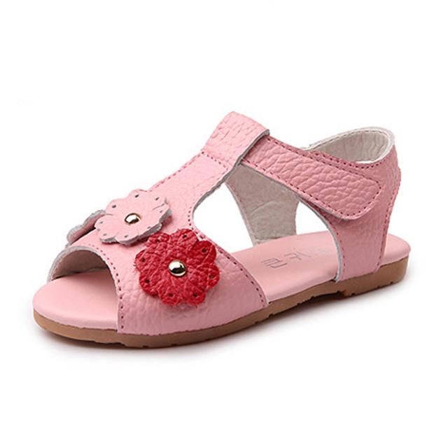 2017 design da marca de couro genuíno sandálias t cinta de couro as meninas da criança infantil meninas verão sandálias de luxo shoes sandalias ninas