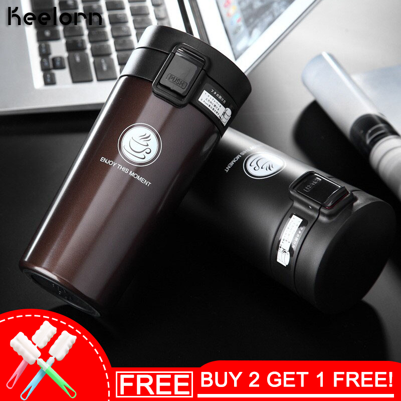 Keelorn Hot Sale Double Wall Stainless Steel Kopi Thermos Cup Mugs Thermal Bottle 500ml Thermocup Fashion Vacuum Flask Cups