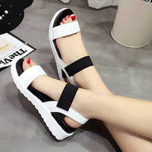 Summer sandals women flat Shoes peep-toe sandalias Roman sandals woman casual shoes Ladies Flip Flops Footwear 810w peep toe flat buckle shoes bohemia flip flop beach beads sandals flat wedges shoes lovely footwear foot toes comfortable to wear