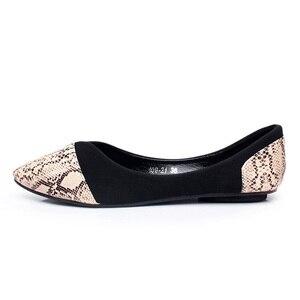 Image 3 - BEYARNE Pointed Toe Flats Sapatilha Ballerina Flats Ballet Shoes Women Sapato Feminino size 35 41