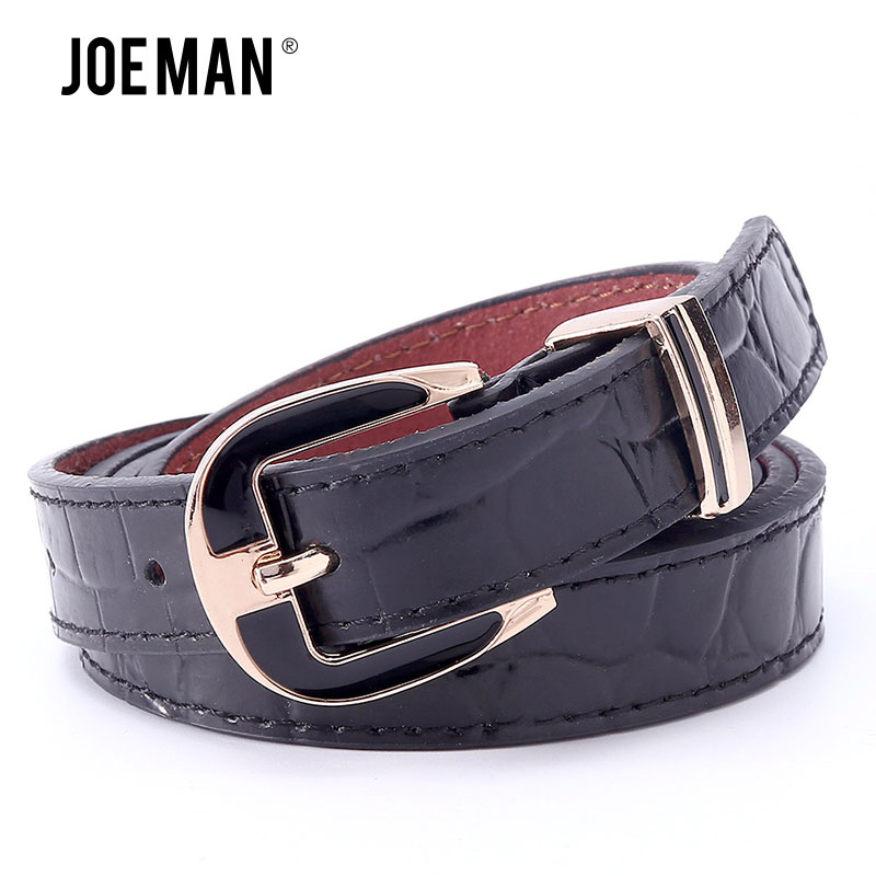 Fashion WomenGenuine Leather Brand Straps Female Waistband Gold Buckle Crocodile Pattern Belt High Quality Eight Color To Choose