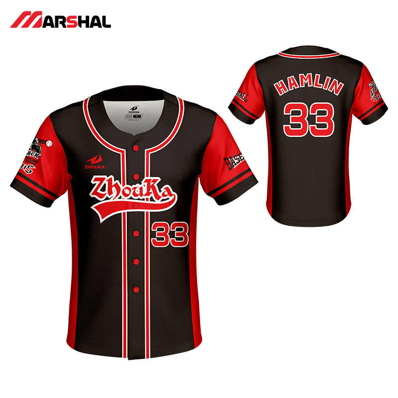 20cb073e Customized design for mens baseball jersey full sublimated sportswear training  shirts button down design on line