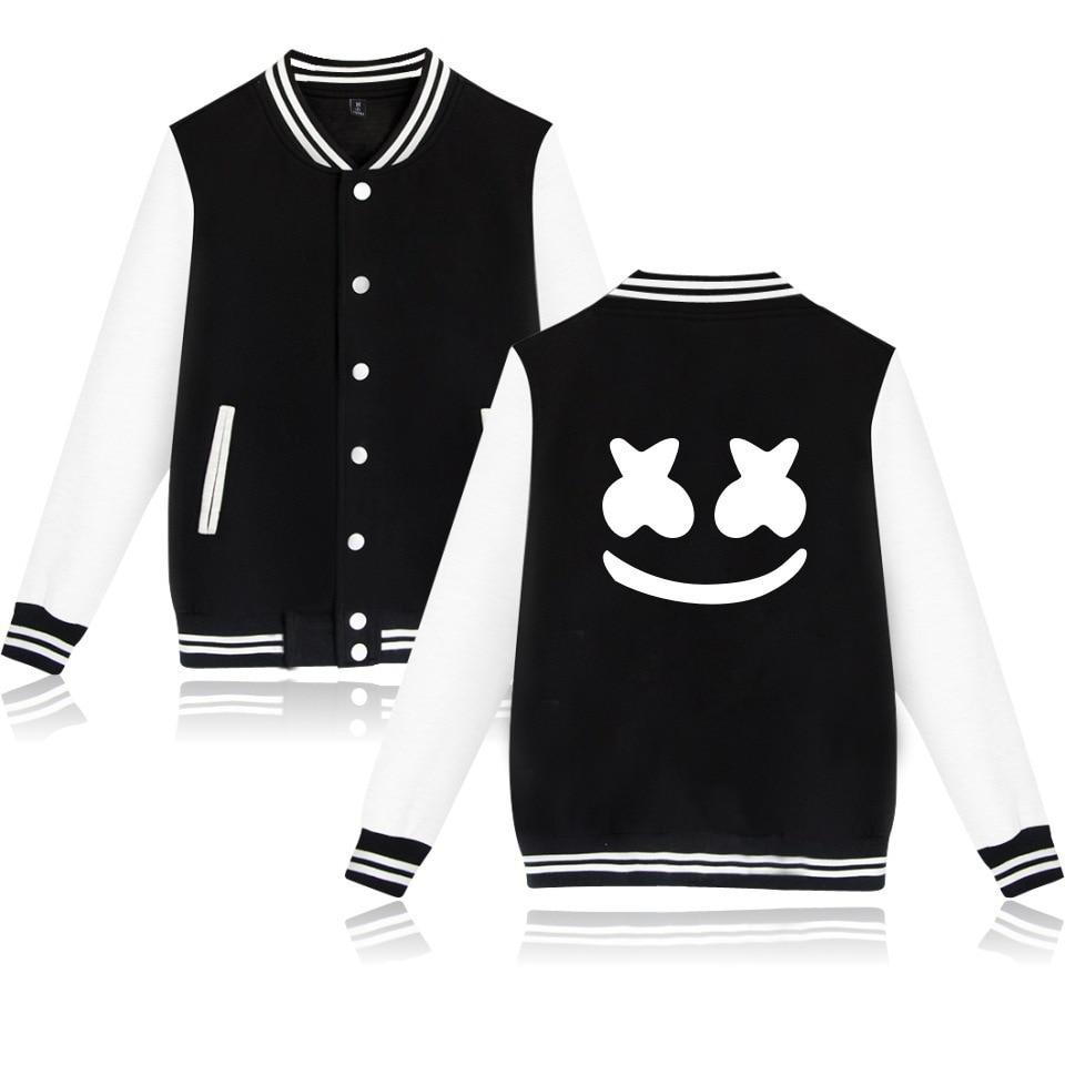 Adult Unisex DJ Marshmello Baseball Jacket Costumes Marshmello Coat For Woman Man Pluz Size