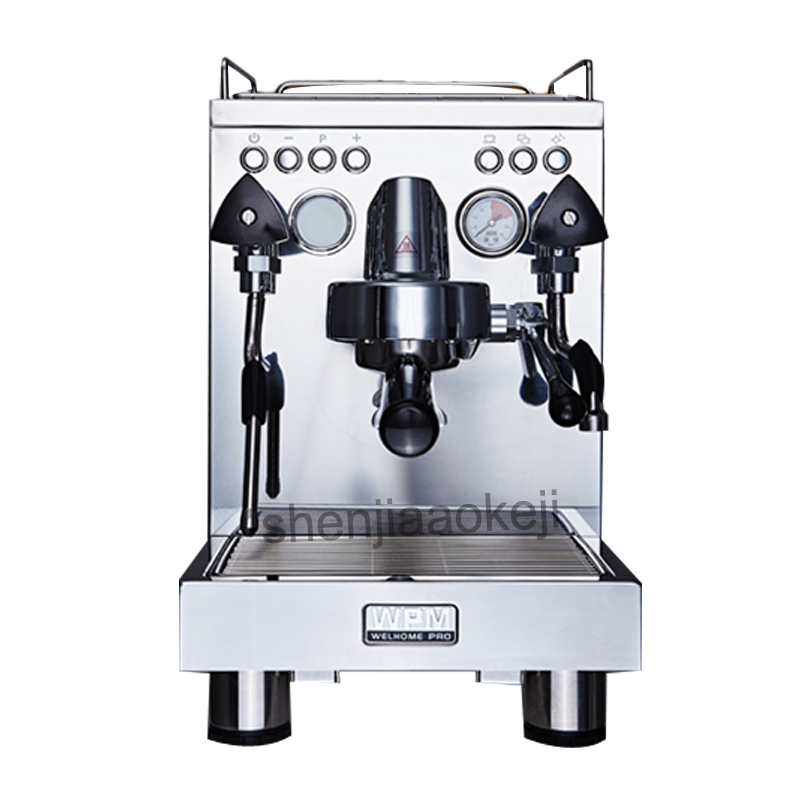 commercial espresso coffee machine semi-automatic stainless steel + metal die-casting coffee machine 220v 1pc стоимость