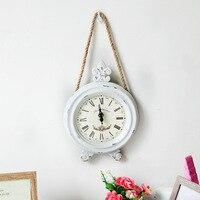 Nieuwe Collectie Simple Wit Goedkope Wandklok Creatieve Vintage Decoratie Relogio De Parede Home Woonkamer Wanddecoratie Klok