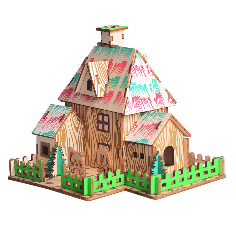 Hot Sale Diy Wizard Of Oz Kids 3d Simulation Cabin House Model