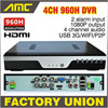 2015 New BEST H 264 NVR DVR 4CH 960H CCTV Recorder DVR Full D1 CCTV 4