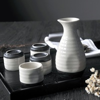 hot 4 Pieces In One Set Creative Japanese Teapot Set Scrub Japan Style Sake Cup Sets