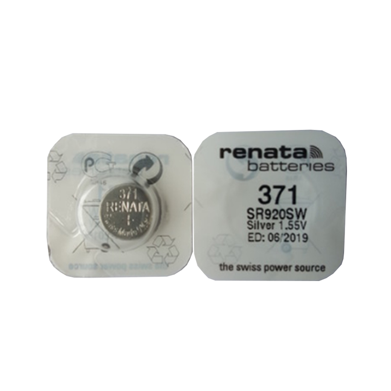 RENATA 2pcs Silver Oxide Watch <font><b>battery</b></font> <font><b>371</b></font> SR920SW 920 1.55V 100% <font><b>371</b></font> renata 920 <font><b>batteries</b></font> image