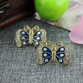 XQ XQ Free shipping 2015 New bj black butterfly earrings The new popular banquet texture