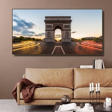 Triumphal Arch Paris France Canvas Painting & Calligraphy Poster Print Living Room House Wall Decor Art Home Decoration Picture