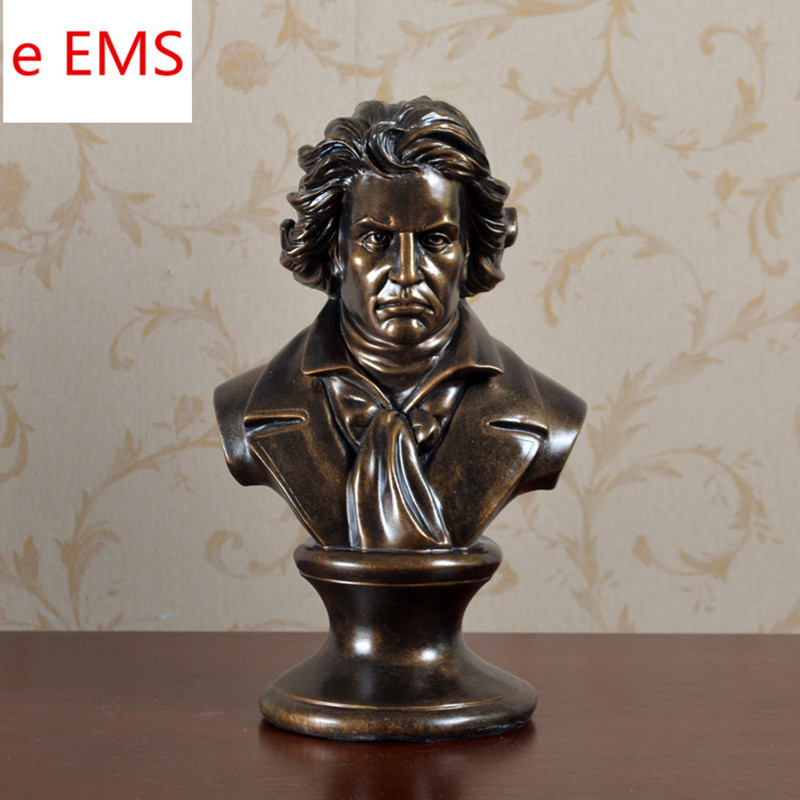 Retro Music Ludwig Van Beethoven Bust Franz Joseph Haydn Statue Colophony Crafts Sketch Teaching Collectible Decorations L2352 musician ludwig van beethoven western classical composer chill casting copper head sculpture colophony crafts decoration g1004