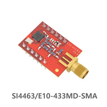 433MHz 100mW SPI 2km Long Range SI4463 433MHz rf Module E10-433MD-SMA  SMA Interface iot rf Transmitter Receiver for Arduino efr32 868mhz 100mw smd wireless transceiver e76 868m20s long distance 20dbm soc arm 868 mhz transmitter receiver rf module