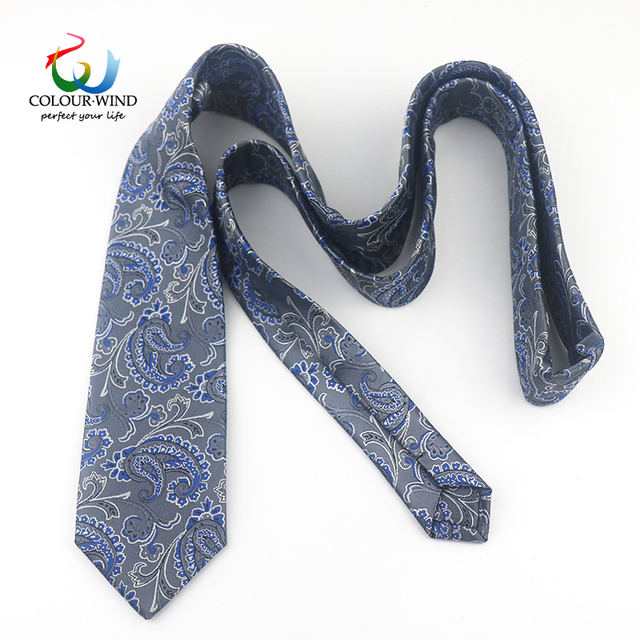2019 Arrived Paisley Polyester Ties For Men Handmade Formal Business Narrow Necktie Red Blue Navy Colorful 7CM Vintage Gravatas