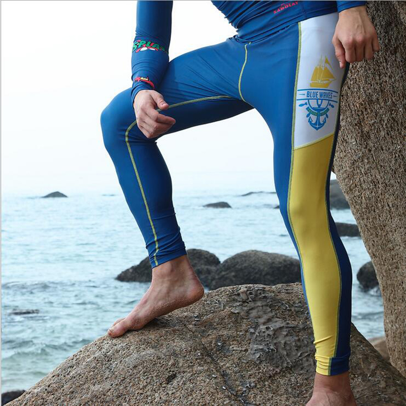 55f5aa607fab0 SABOLAY Men Swimming Long Pants Diving Surfing Tights Sports Leggings  Wetsuit Suncreen Diving Long Trousers Snorkeling Pants-in Wetsuit from  Sports ...