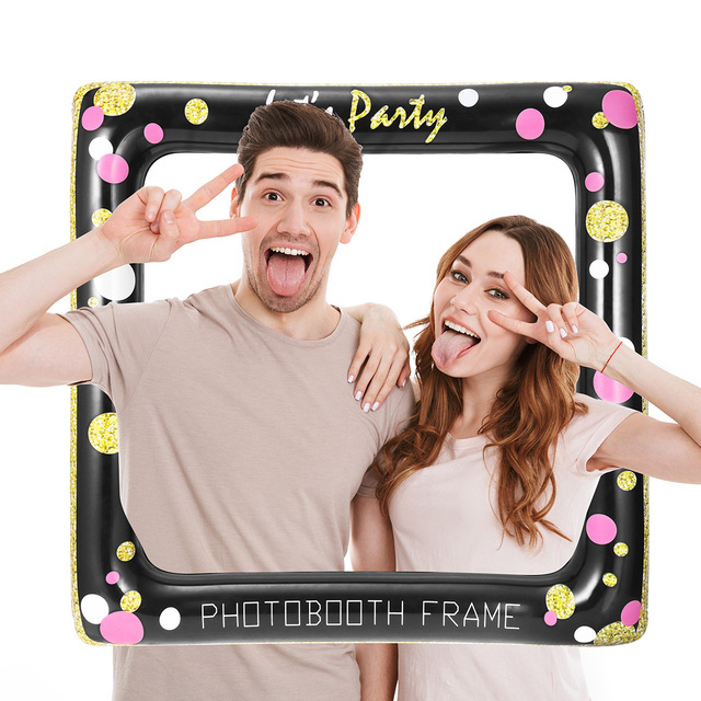 Us 1509 Inflatable Selfie Frame Photo Booth Props Party Decorations Picture Frame For Wedding Birthday Carnival Bridal Shower Supplies In