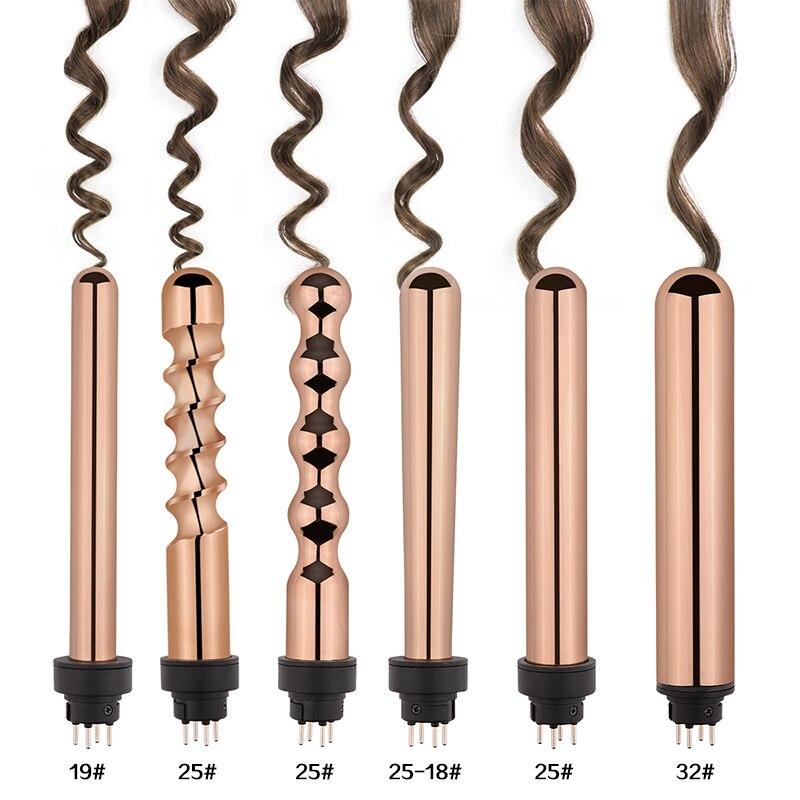 Ferro de ondulação cerâmica modelador cabelo varinha