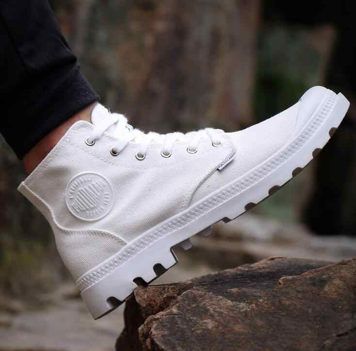 SZSGCN414 Высококачественная Мужская парусиновая обувь модная мужская повседневная обувь с высоким берцем дышащая парусиновая Мужская Брендовая обувь на шнуровке цвет черный, 5 цветов