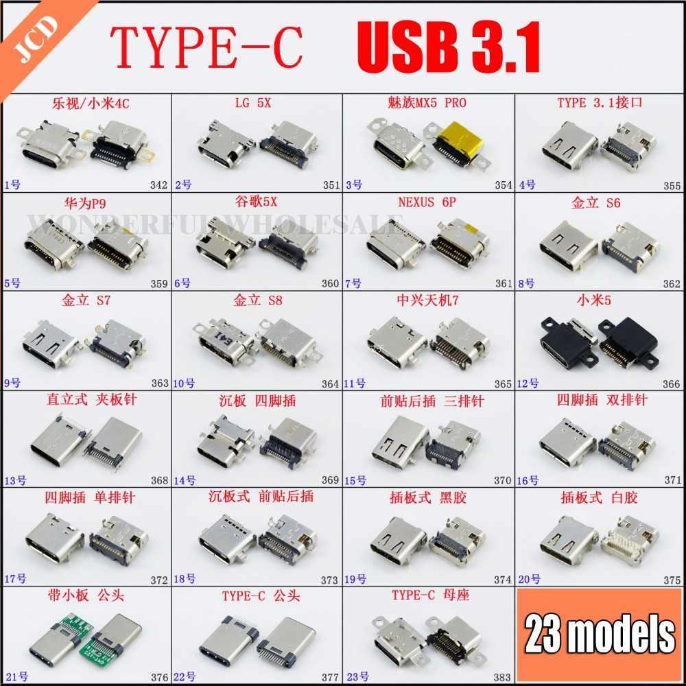 1x novo 23 modelos tipo c 3.1 usb micro usb jack porto de carregamento doca conector para huawei xiaomi google meizu lg gionee... (2) não se preocupe