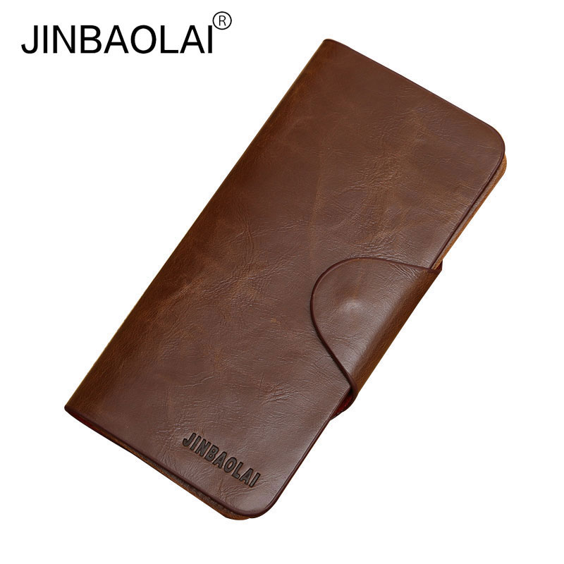 2017 Top Quality Vintage Brown Men Long Leather Wallets Retro Male Clutch Purse Wallet Man Walet Wholesale Price