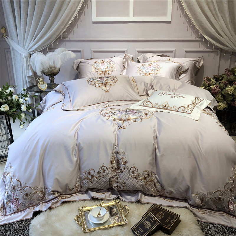 Super King Size Duvet Cover Egyptian Cotton Sweetgalas: New Luxury Gray Egyptian Cotton Bedding Set Queen King