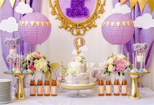 Laeacco Baby 1st Birthday Party Balloons Decor Cake Photography Backgrounds Customized Photographic Backdrops For Photo Studio