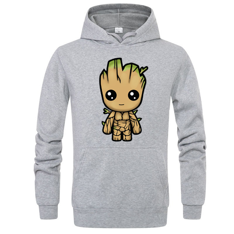 Marvel Groot Hoodies Sweatshirt Men/Women New Fashion Hip Hop Hoodie Harajuku Streetwear Casual Hoody 2019 Mens Pullover Jacket