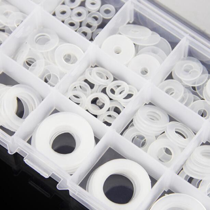 250pcs M3.5-M20 Soft nylon washers plastic washers insulation washers plumbing leakproof gaskets set image